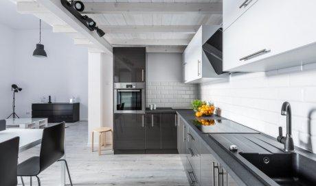 Conception de plan pour cuisine ouverte sur séjour à Charbonnières-les-Bains